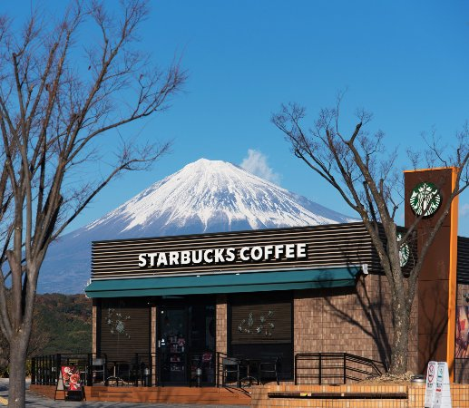 Starbucks Coffee Fujigawa Service Area Outbound Line: The best  view in Japan, STARBUCKS COFFEE.