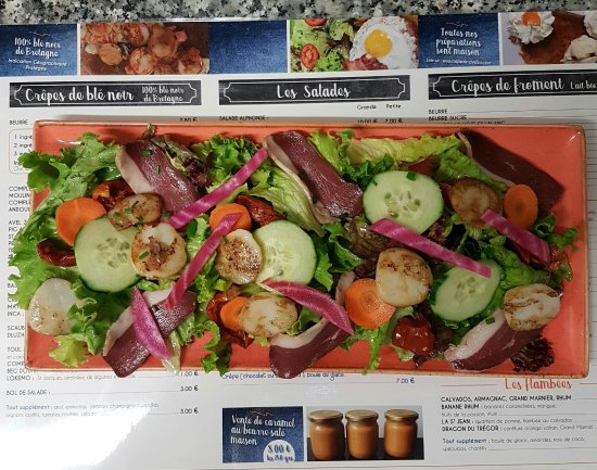 Plestin les Greves, France: Salade Magret de canard et St Jacques toastées