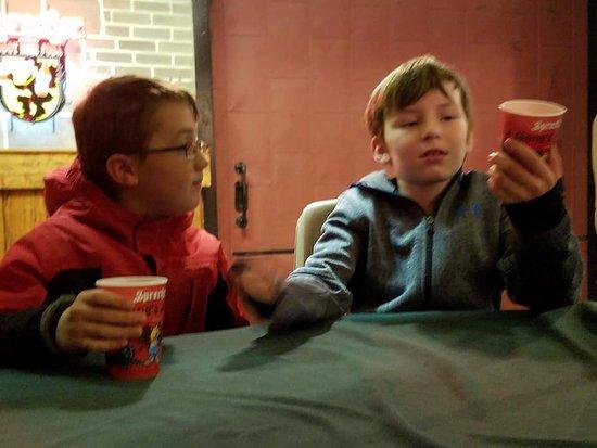Sprecher Brewing Co. : My son and nephew discuss the finer qualities of Sprecher root beer.