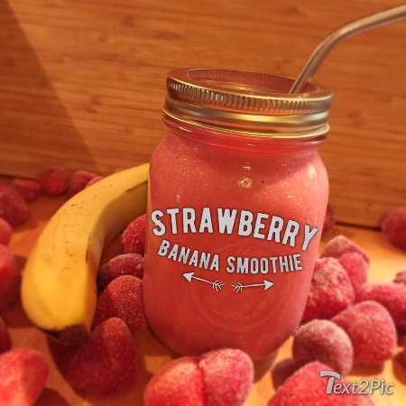Deep River, Canadá: strawberry banana smoothie
