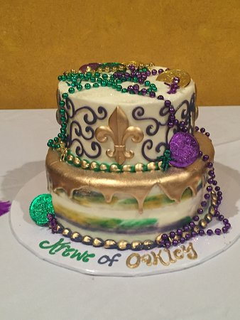 Cool Mardi Gras Themed Baby Shower Cake Picture Of Pauls Pastry Shop Funny Birthday Cards Online Alyptdamsfinfo