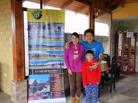 Machachi, Ekvador: Diego and family.