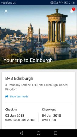 B+B Edinburgh: Screenshot_20180103-214148_large.jpg