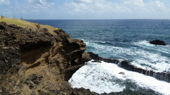 """Cap Estate, St. Lucia: Officially called Pointe Hardy.  Nicknamed """"The Moon"""""""