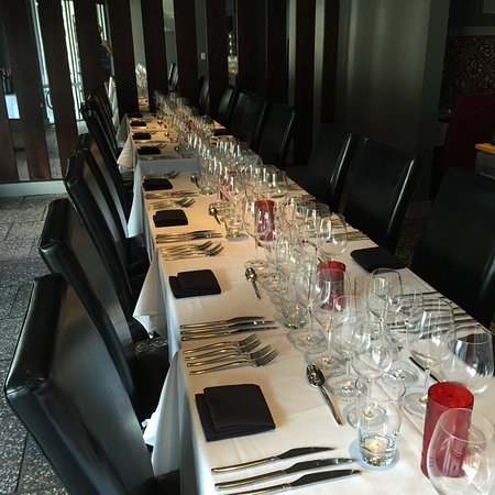 Breakwater Restaurant and Bar: Our front dining room is ready for your private party.  It seats up to 25.