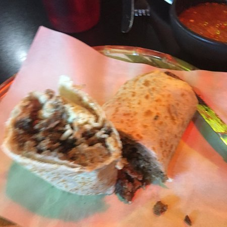 Bridgeview, IL: Steak burrito, no veggies always tasty