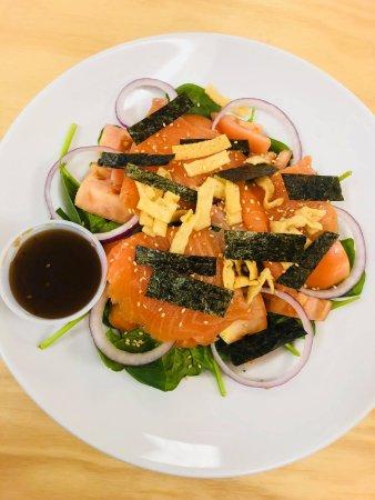 Belfast, ME: Smoked salmon salad