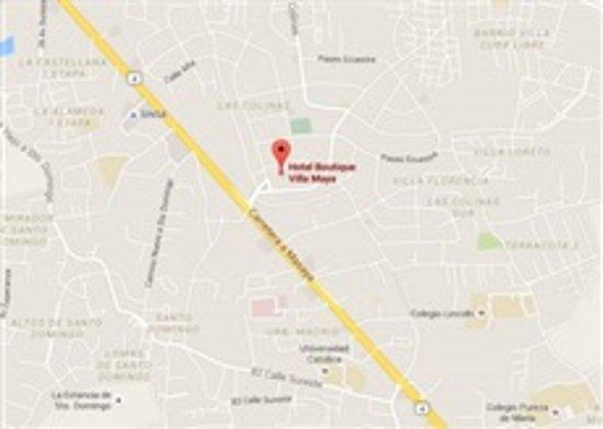 Hotel Boutique Villa Maya: Mapa de ubicación
