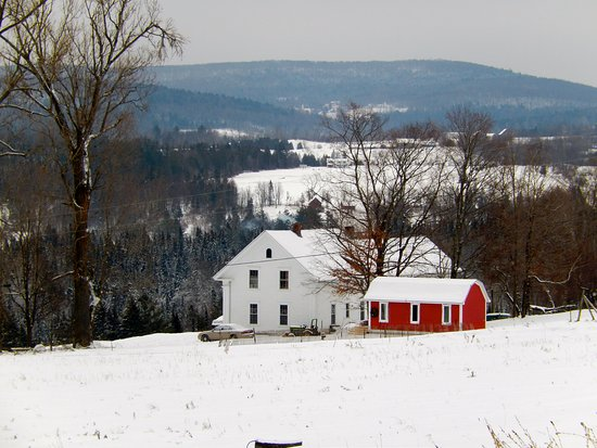 Craftsbury Outdoor Center: View from a ski trail