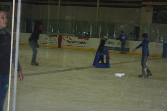 Wooster, OH: This shows part of the rink with a skater using the walker item- many used these
