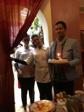 Riad Alili: staff singing happy birthday