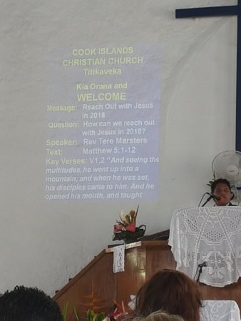 Cook Island Christian Church (CICC): Service outline in English specially for visitors