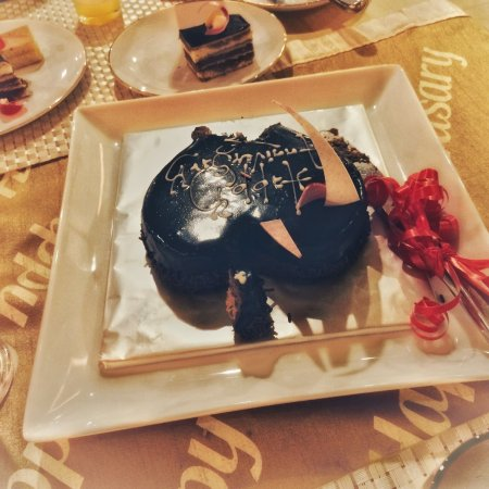 The Grand Kandyan Hotel: Our Anniversary Cake Provided by the Hotel as a Complement