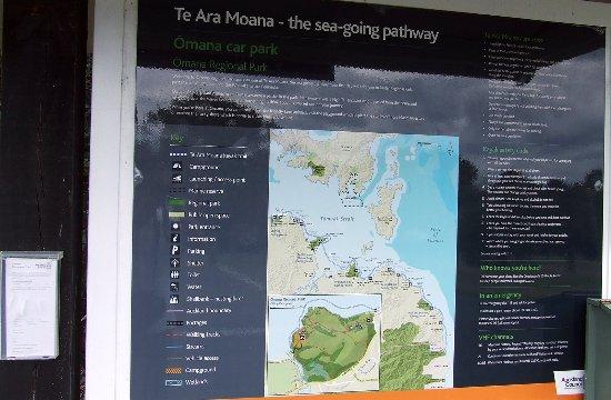 Maraetai Bay, Nueva Zelanda: Te Ara Moana kayak route