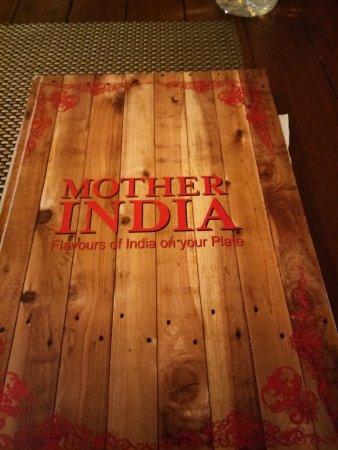 Menu of Mother India Restaurant