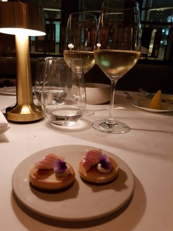 Roux at The Landau: Complimentary petits fours ...