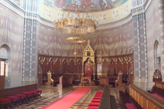 Dakovo, Croacia: Part of the chancel with the bishop's chair