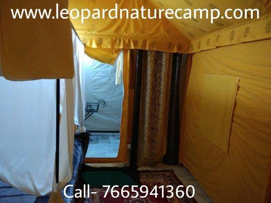 Bali, India: Swiss cottage tents bathroom entrance