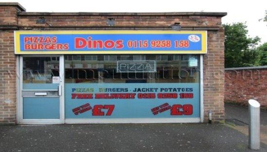 Dinos Dial A Pizza Nottingham Menu Prices Restaurant