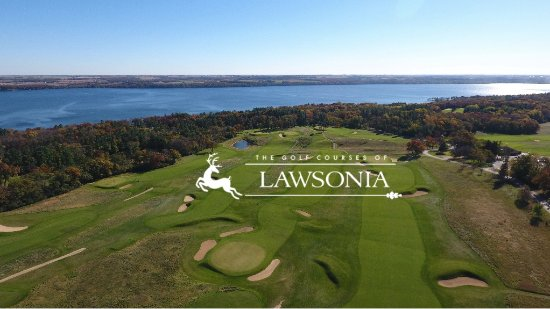 Green Lake, WI: Overview of the back 9 on our highly ranked Lawsonia Links Course