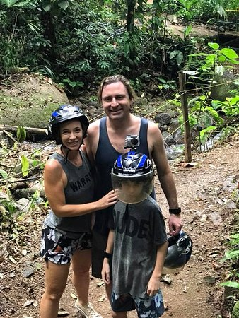 Parrita, Costa Rica: On foot we hiked to a small waterfall & swimming hole with a rope swing.