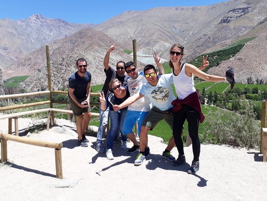 La Serena, Chile: Enjoying with friends in the Elqui Valley tour