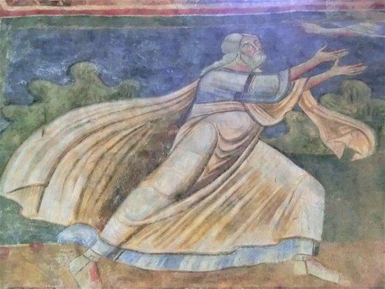 Ferentillo, Italia: Affreschi dell'abbazia di San Pietro in Valle