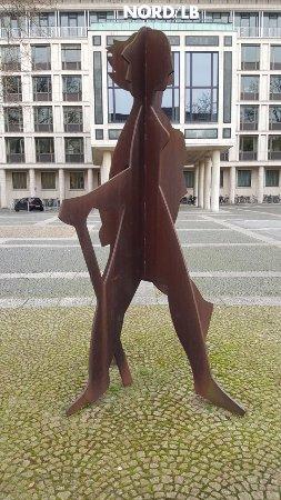 """Skulptur """"Wanderer"""""""
