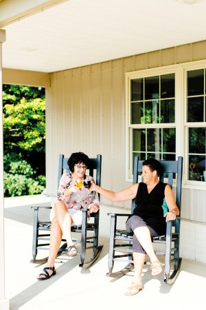 Three Rivers Wine Trail: Relax with friends and enjoy the view at Heritage Vineyard Winery.