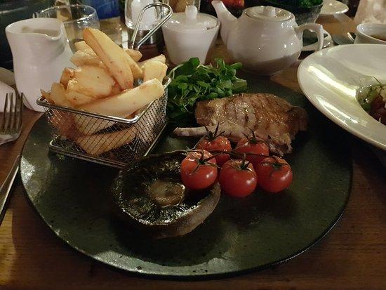 Stonedge, UK: Pork cutlet.