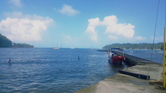 Nueva Gorgona, Panamá: Vue depuis l'école de plonger de Frank & Nevin . Mortel !!!