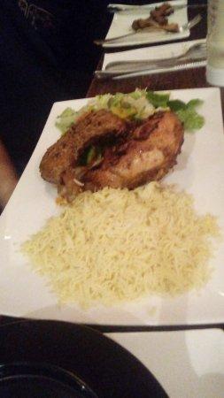 Ilford, UK: Chicken & rice