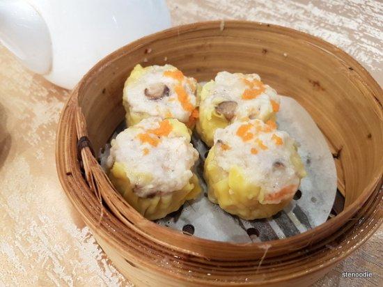 Pork Dumplings (Su Mai) with Fish Roe