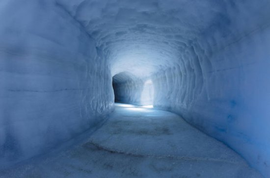 Into the glacier Ice cave, Krauma spa...