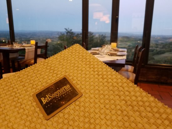 Bel Soggiorno: the view from our table