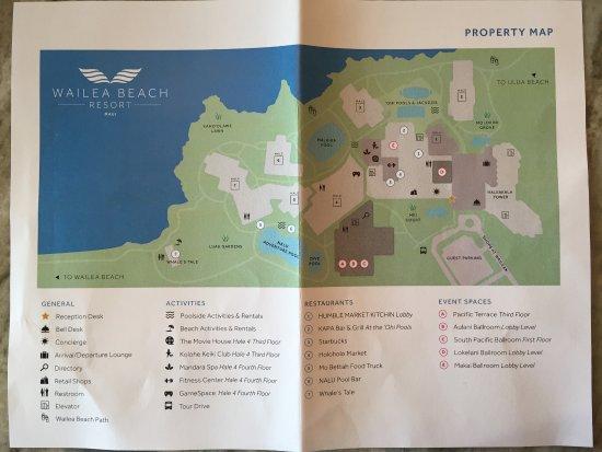 Wailea Beach Resort Marriott Maui Map
