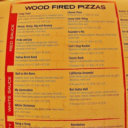 The Rock Wood Fired Kitchen Menu