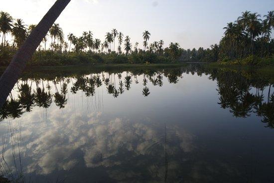 Bangaram, India: a lake in middle of island