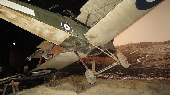 """Omaka Aviation Heritage Centre: S.E.5a. Keith """"Grid"""" Caldwell exhibit."""