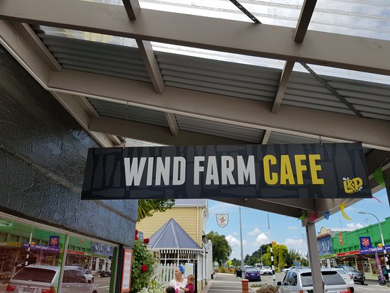 Woodville, New Zealand: Sign out front.