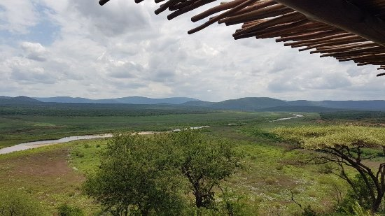 Nkwazi Lake Lodge: View from the Self Catering Nkwazi Lodge