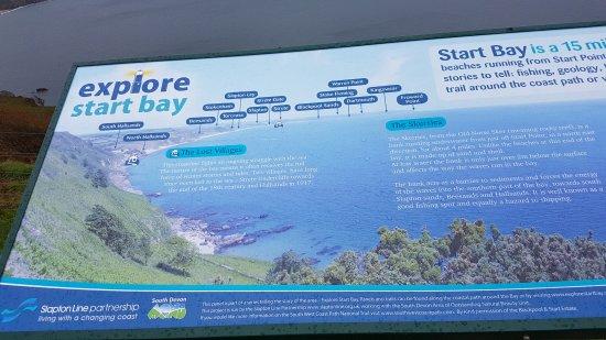 Start Point Lighthouse: Start Bay map