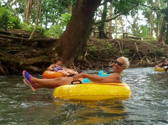 Savanna La Mar, Jamaica: down the river
