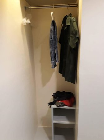The Center Suites : There is no closet just this hang area