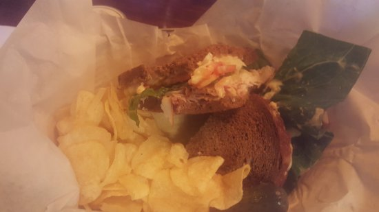 Yellow Deli: My Chicken sandwich and chips