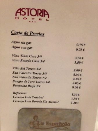 Bull Astoria : extrem billige Getränke im Restaurant