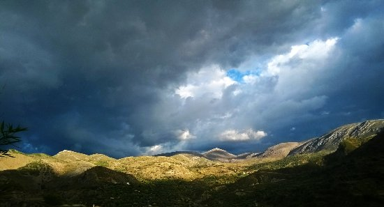 Quentar, Spanien: View over the surrounfing mountains