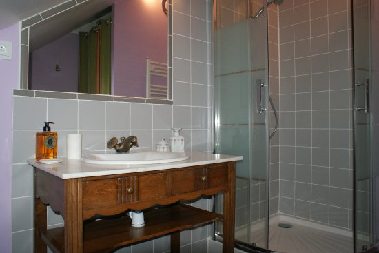 Saint-Erblon, France: La salle de douche de Berlingot