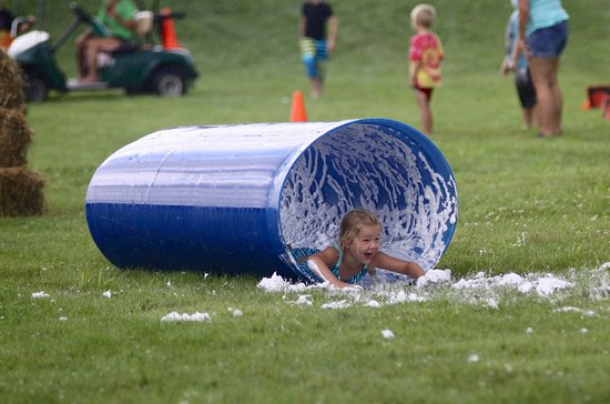 Waseca, MN: Slide through our messy obstacle course! Fun for all ages!