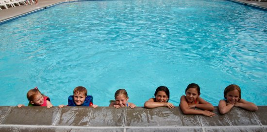 Waseca, MN: Fun with Friends at our 2000 sq. ft heated pool!